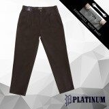 PLATINUM BIG SIZE Double Pleated Chinos PM651 (Brown)