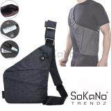 SoKaNo Trendz Thin Ultra Slim Sling Bag Anti Theft Shoulder Crossbody Lightweight Chest Bag - Dark Grey
