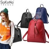 SoKaNo Trendz SKN741 Premium PU Leather Backpack Handbeg Wanita- Red