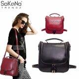 SoKaNo Trendz SKN742 4 Way Use Premium PU Leather Backpack Handbeg Wanita- Black
