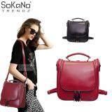 SoKaNo Trendz SKN742 4 Way Use Premium PU Leather Backpack Handbeg Wanita- Red