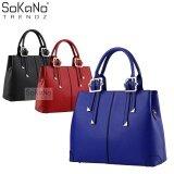SoKaNo Trendz SKN801 Premium PU Leather Bag Handbeg Wanita- Blue