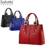 SoKaNo Trendz SKN801 Premium PU Leather Bag Handbeg Wanita- Red
