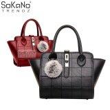 SoKaNo Trendz SKN803 Premium PU Leather Bag Handbeg Wanita- Black