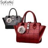 SoKaNo Trendz SKN803 Premium PU Leather Bag Handbeg Wanita- Red