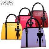 SoKaNo Trendz SKN805 Premium PU Leather Top Handle Bag Handbeg Wanita- Light Purple