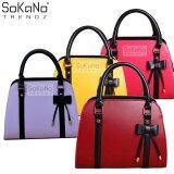 SoKaNo Trendz SKN805 Premium PU Leather Top Handle Bag Handbeg Wanita- Wine Red