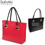 SoKaNo Trendz SKN808 Large Capacity Premium PU Leather Bag Handbeg Wanita- Red