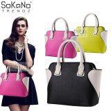 SoKaNo Trendz SKN809 Eurpean Style Smiley Premium PU Leather Bag Handbeg Wanita- Black