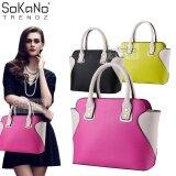 SoKaNo Trendz SKN809 Eurpean Style Smiley Premium PU Leather Bag Handbeg Wanita- Rose Red