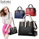 SoKaNo Trendz SKN818 Premium European Style Elegant Tote Bag Handbeg Wanita- Black