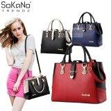 SoKaNo Trendz SKN818 Premium European Style Elegant Tote Bag Handbeg Wanita- Red