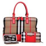 SoKaNo Trendz SKN821 Eurpoean Style Tote Bags (Set of 3)- Red
