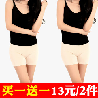 Three points modal anti-female summer shorts lace Safety pants (Skin boxer + skin boxer) (Skin boxer + skin boxer)
