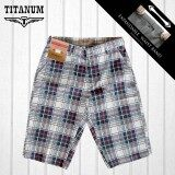 TITANUM BIG SIZE Checked Short Pants TCSP506 (Blue)