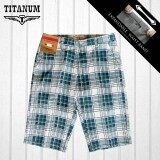 TITANUM BIG SIZE Checked Short Pants TCSP506 (Green)