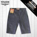 TITANUM BIG SIZE Checkered Short Pant TCSP507 (Grey)