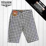 TITANUM BIG SIZE Checkered Short Pant TCSP507 (White)