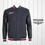 TITANUM BIG SIZE Varsity Jacket with Lining TIM7008 (Grey)