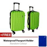 Travel Star A01 Hard Case ABS Luggage Bagasi 2 in1 Set 20 inches + 24 inches Green