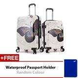Travel Star Butterfly 2 in 1 Travel Luggage Bagasi  set 20 Inch + 24 Inch