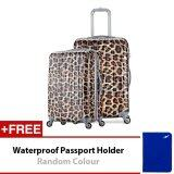 Travel Star Leopard Travel Luggage Bagasi  20 Inch + 24 Inch - Leopard