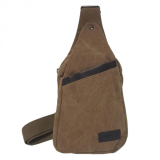 Unisex Washable Cross Body Bag - Brown