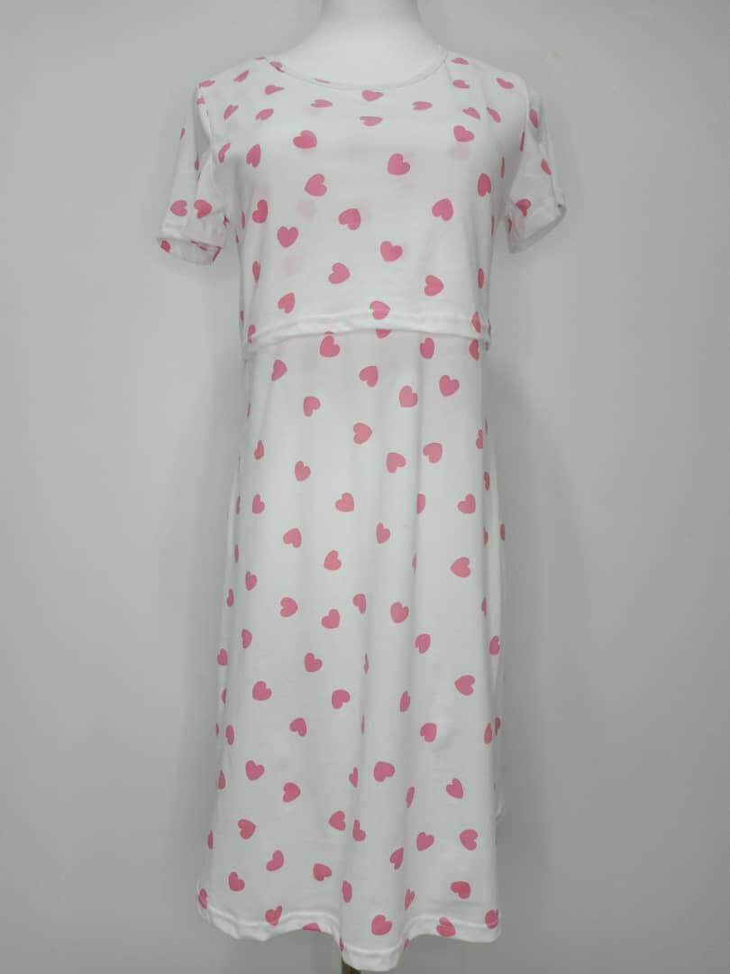 BMAMA MATERNITY DRESS : PINK LOVE