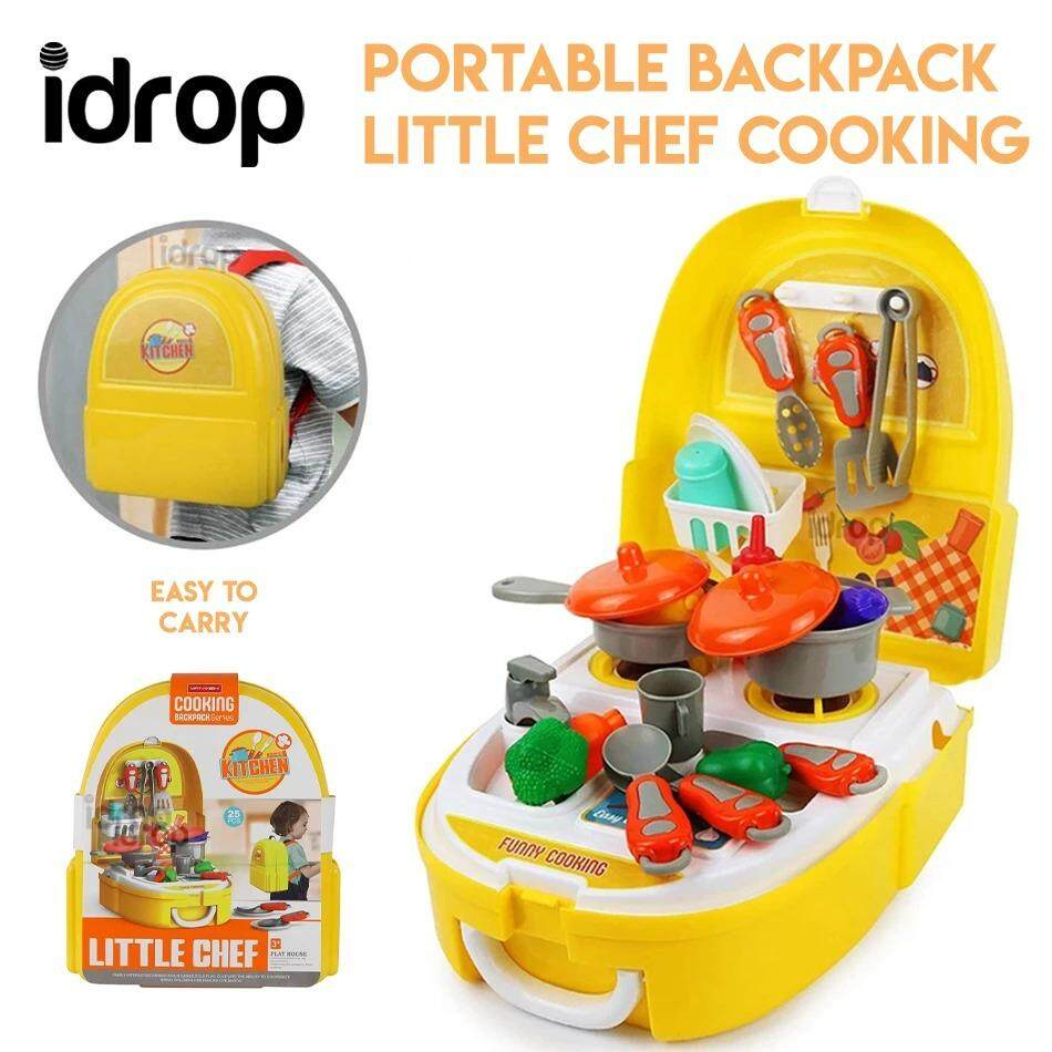 Idrop Portable Backpack Pretend Game Little Chef Cooking Toys