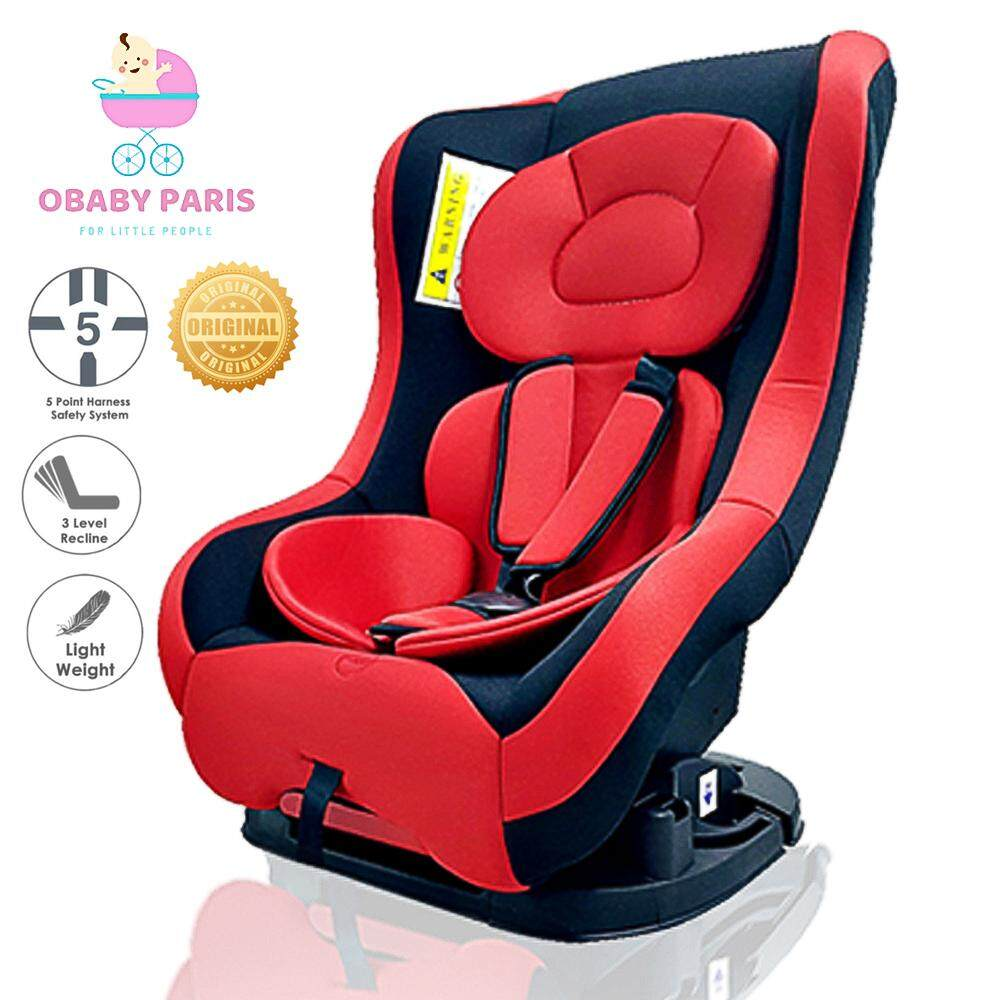 OBABY PARIS OB003 2 Ways Premium Infant Children Safety Car Seat Reclinable Car Seat with Detachable Seat Pad and Cover