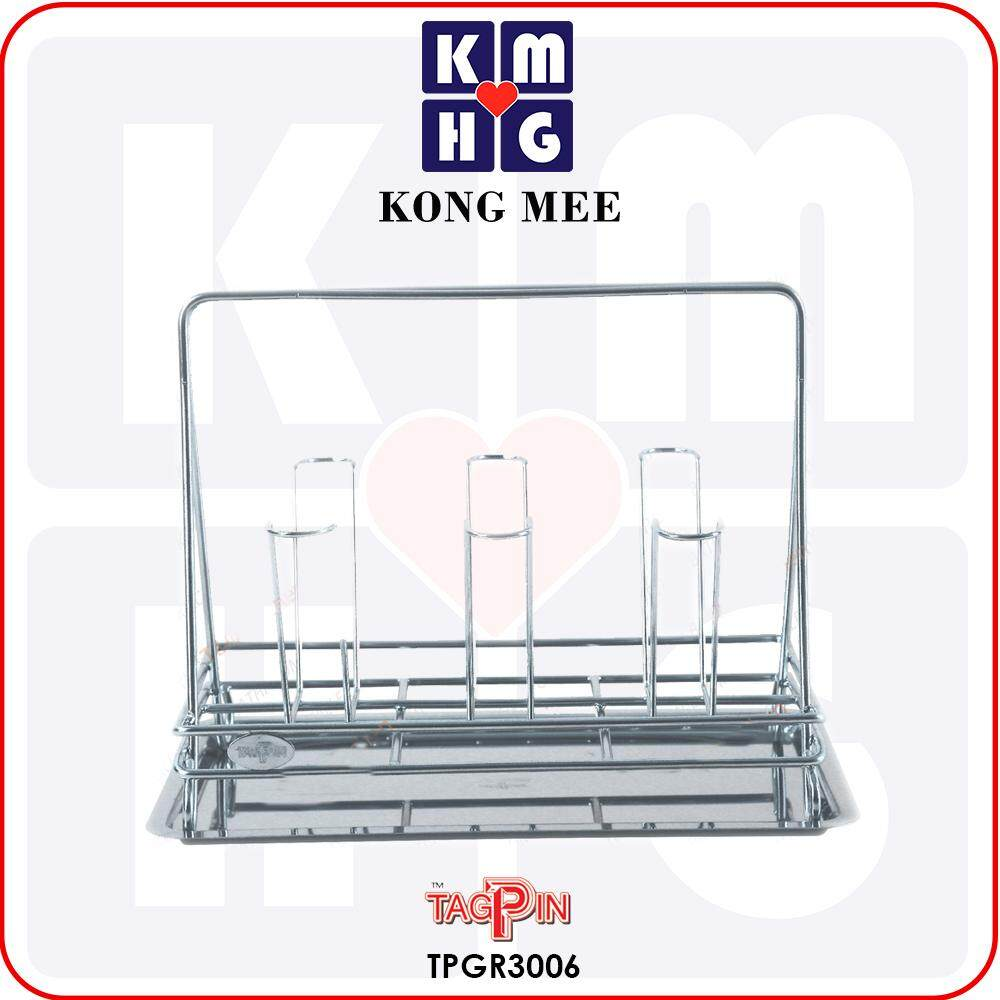 Tagpin - High Quality Stainless Steel 304 Dish Rack with FREE GIFT (TPGR3006)  Premium Drying Dishes Cooking Storage Accessories Dapur Masak Makan Rak Kering Pinggan Kitchen Basin Basket Home Living FIxtures Furniture Cook Chef Wash Dishes Luxury