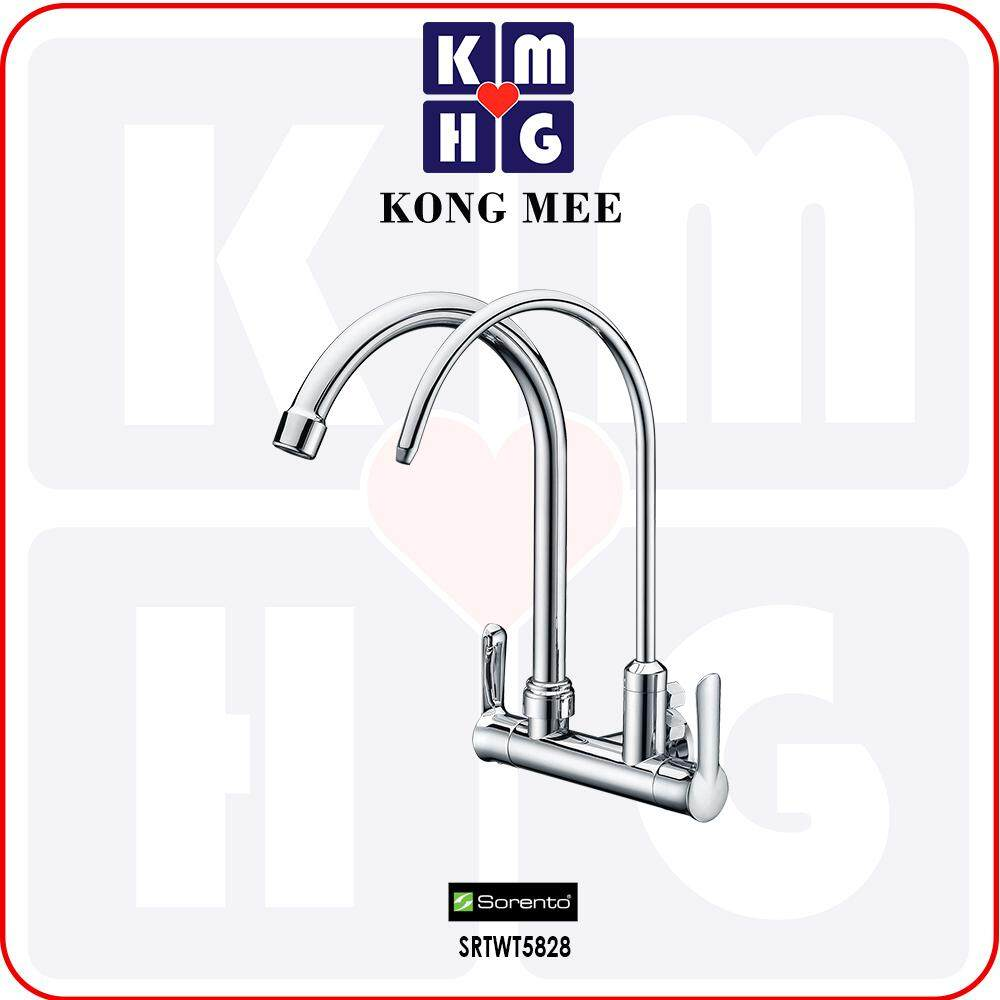 Sorento Italy - Wave 5800 Series Wall Mounted Sink Tap With Filter Tap (Kitchen Basin Faucet) (SRTWT5828) Drinking Water High Quality Kitchen Top Counter Restaurant Home Wash Dishes Water Soap Faucet Clean Pipe Food Cook Premium Luxury Long Lasting