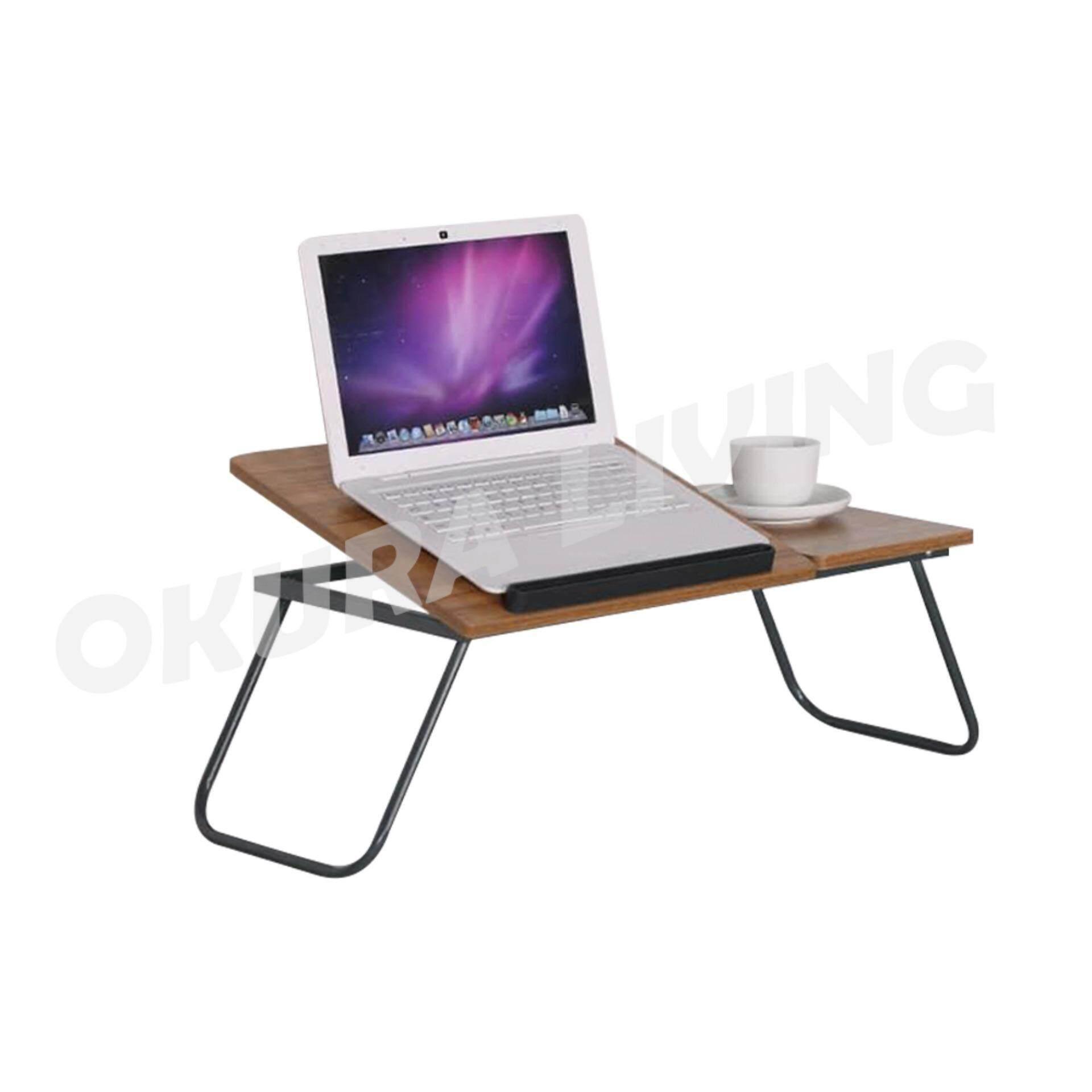 OKURA Foldable & Adjustable Laptop Desk Portable Folding Computer Table