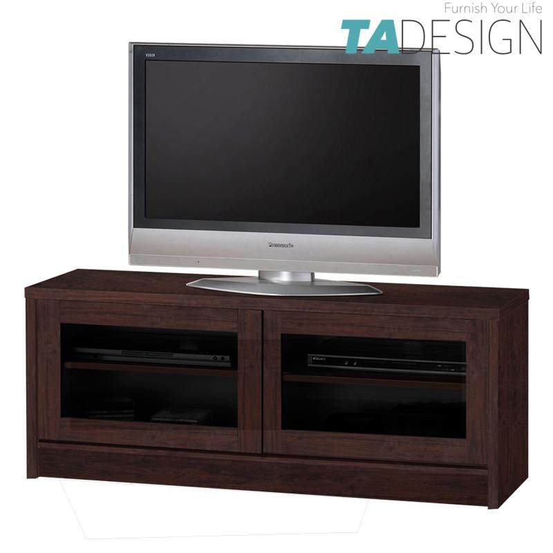 TAD XENA 4 feet tv cabinet 4ft with glass door