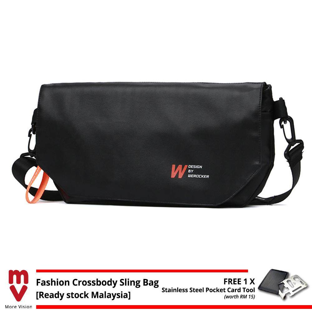 MV Bag WEROCKER DESIGN Sling Bag Premium Quality Messenger Chest Cross Body Shoulder Beg Travel, Casual Outfit Outdoor MI5331