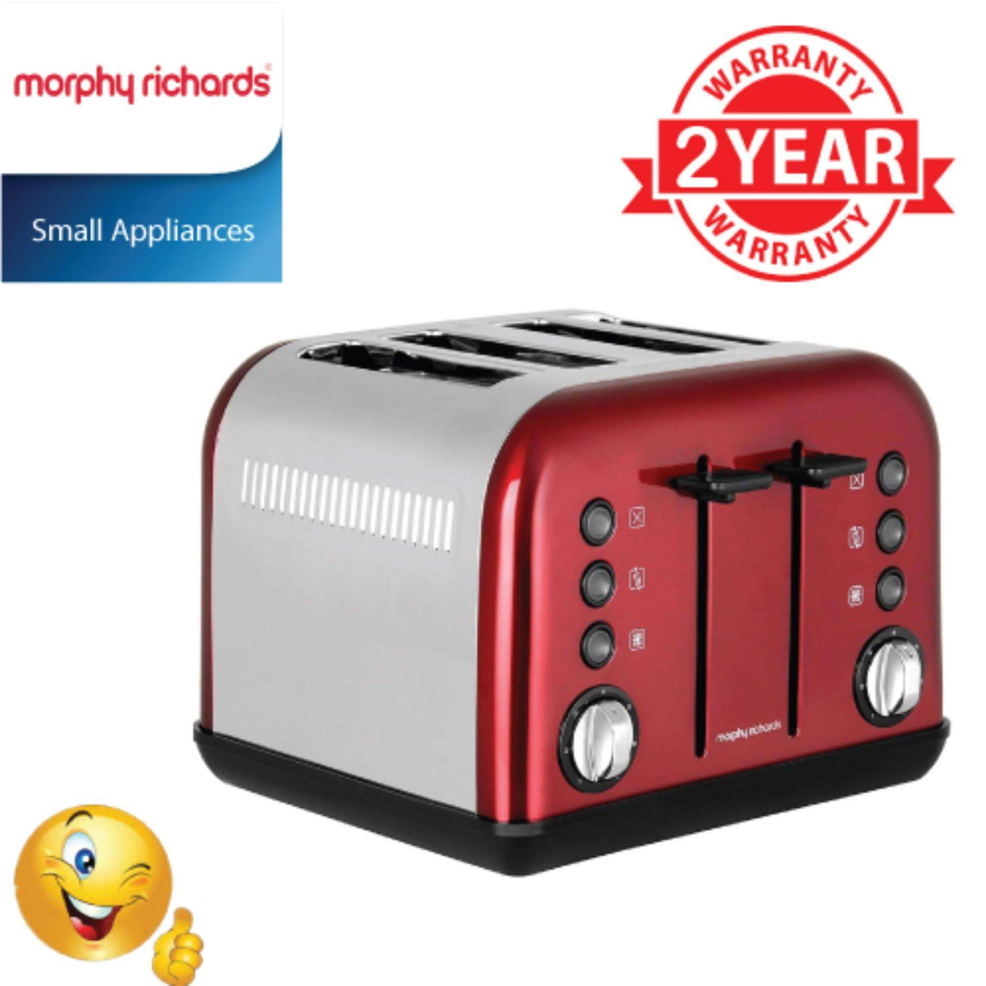 TOASTER MORPHY RICHARD ACCENTS 242030 4 SLICE RED
