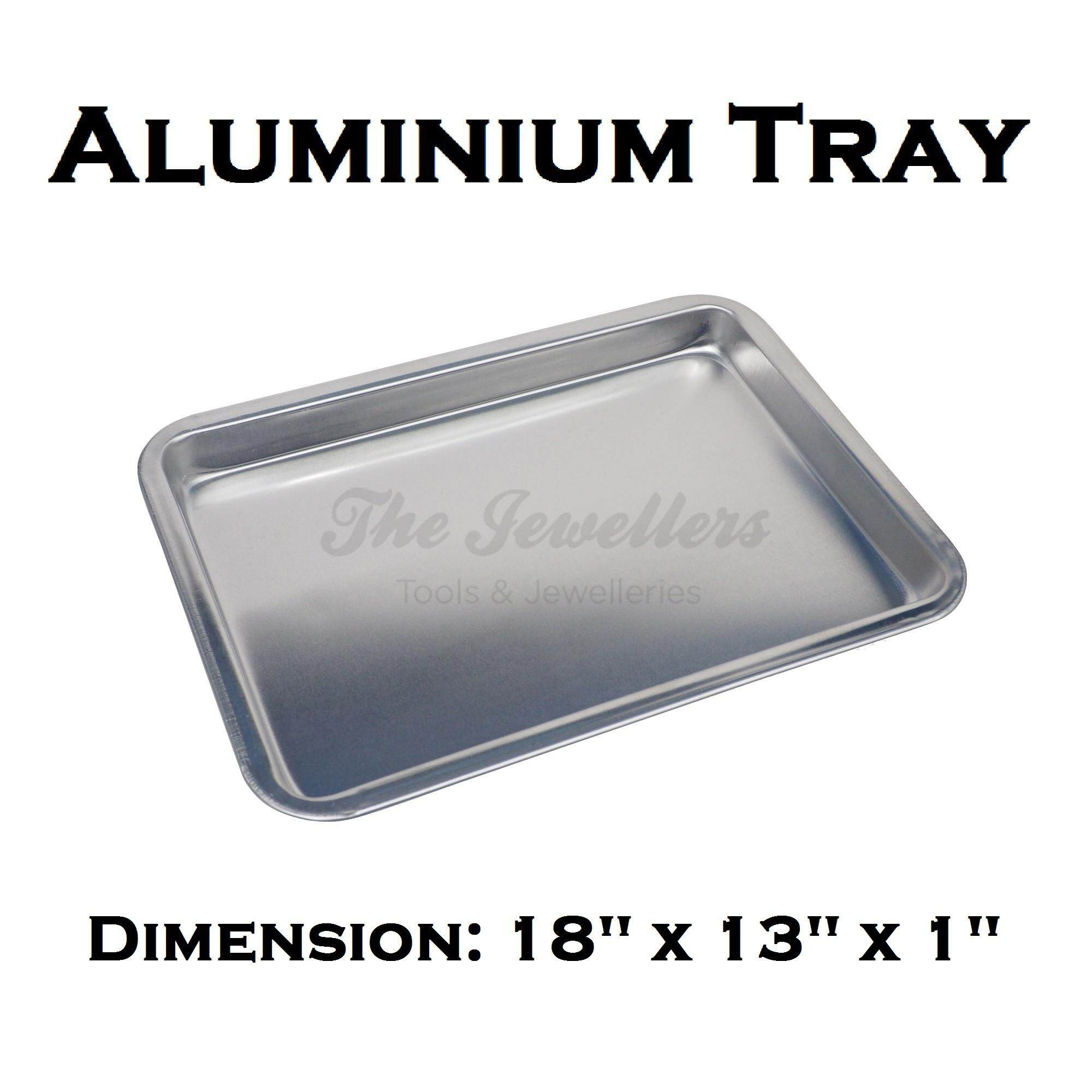 "Aluminium Tray Bakeware Oven Sheet, Baking Pan Tray for Cookies, Pizza, and Cakes Dimension: 18"" x 13"" x 1"" inch"