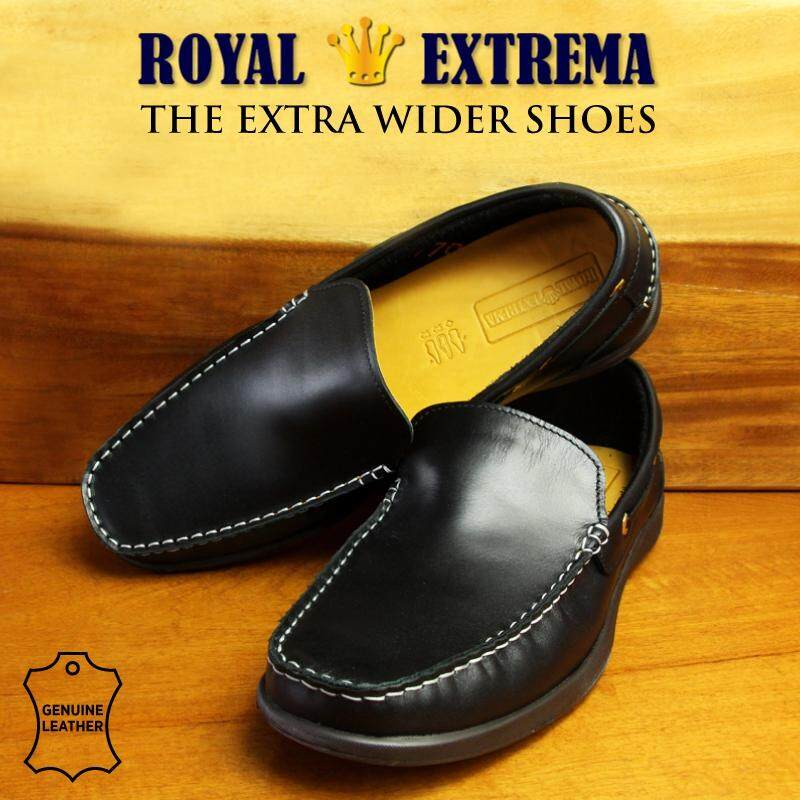ROYAL EXTREMA EXTRA WIDE Mocassins Slip On RESH0009 (Black)