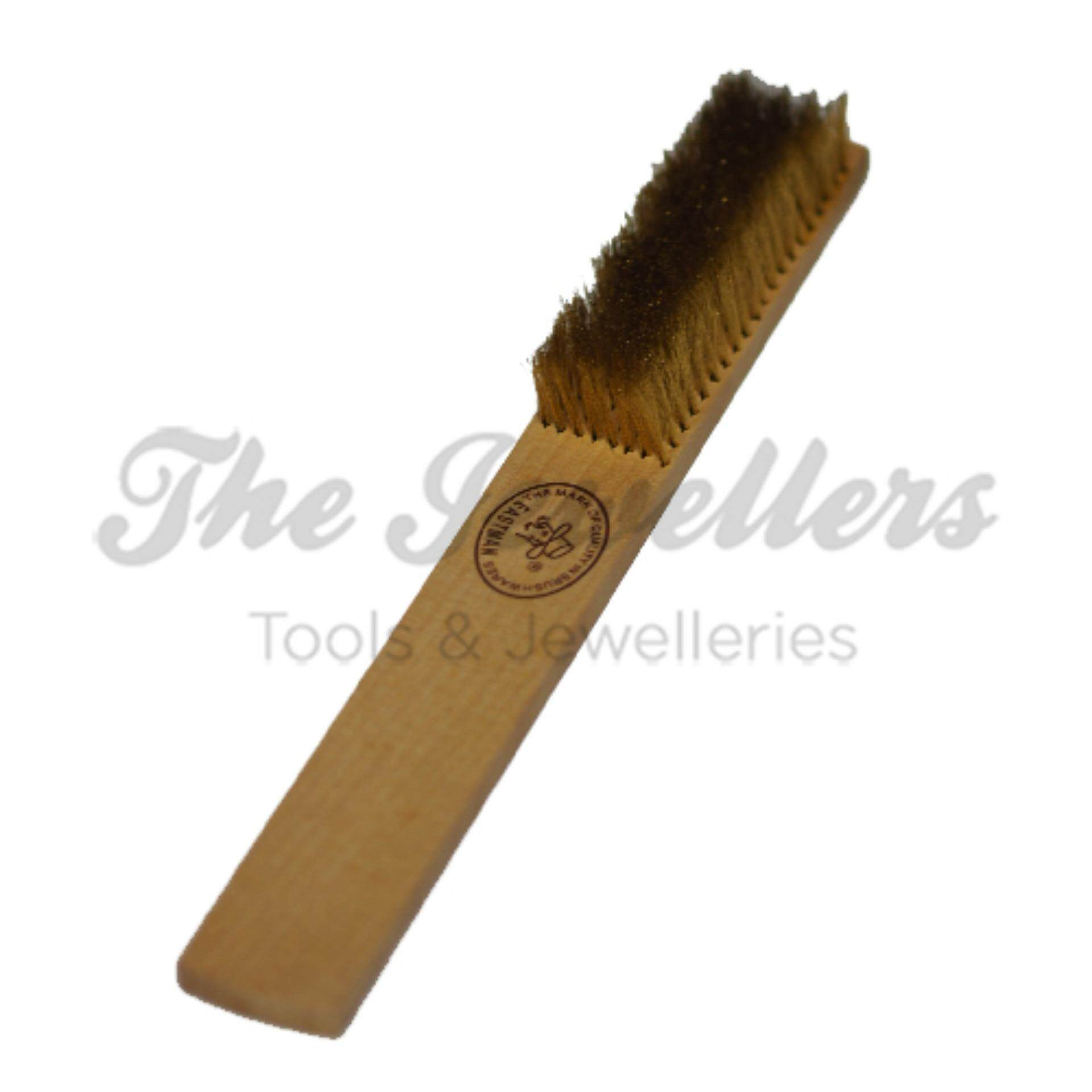 Eastman 8 Rows Brass Wire Brush with Wooden Handle for Metal cleaning or Rust removing