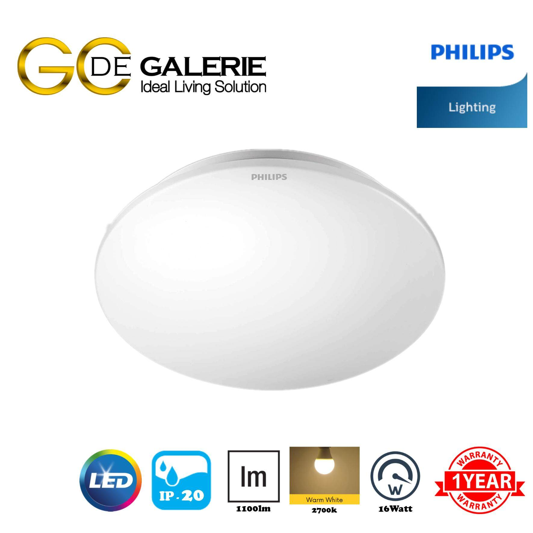 CEILING LIGHT LED PHILIPS MOIRE 33362 16W 27K WH