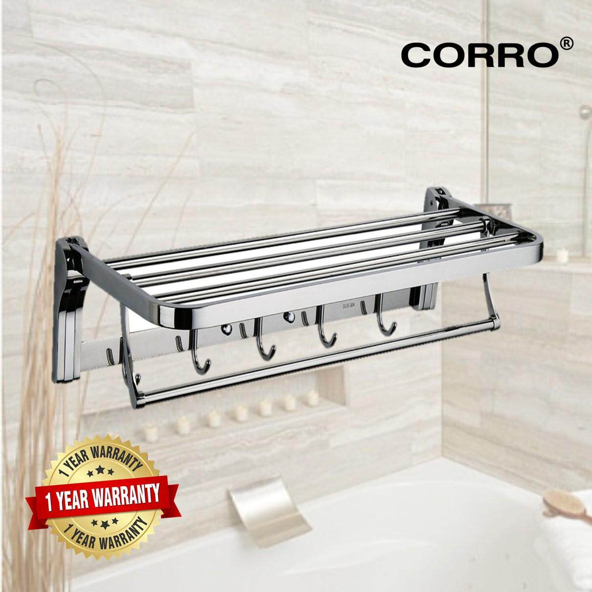 CORRO High Quality SUS304 Stainless Steel Foldable Towel Rack