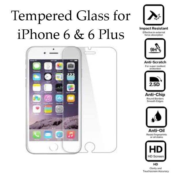 Tempered Glass for iPhone 6, 6 Plus - 2.5D Curve Screen Protector [Transparent]