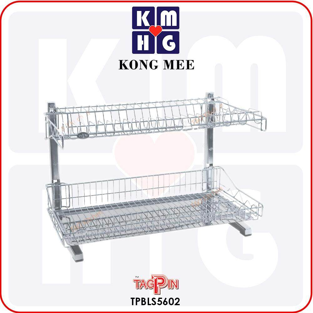 Tagpin - High Quality Stainless Steel 304 Dish Rack with FREE GIFT (TPBLS5602)  Premium Drying Dishes Cooking Accessories Dapur Masak Makan Rak Kering Pinggan Kitchen Basin Basket Home Living FIxtures Furniture Cook Chef Wash Dishes Luxury