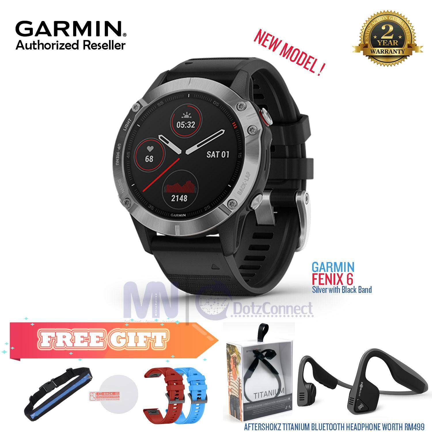 Garmin Fenix 6 / Fenix 6 Sapphire Version Premium Multisport GPS Watches with Aftershokz Titanium [ READY STOCK ]