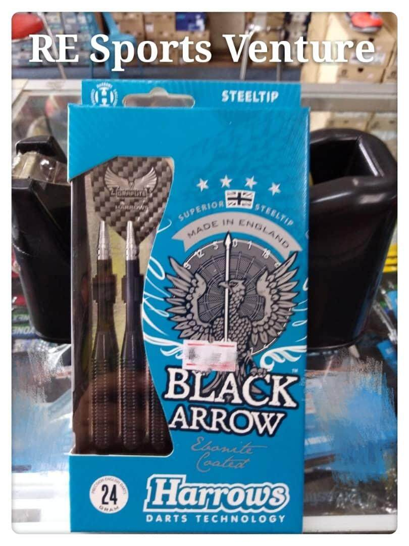 Harrows Black Arrow Darts - Steel Tip