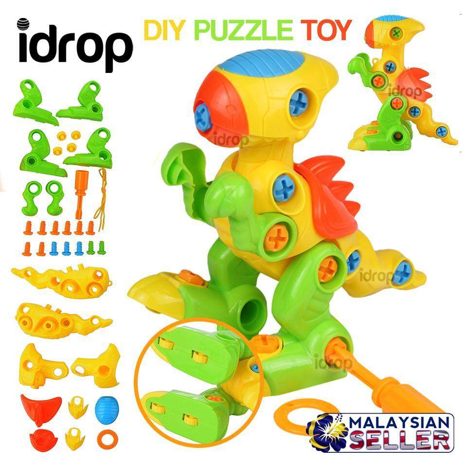 idrop DIY Animal Self Assemble Puzzle Toy