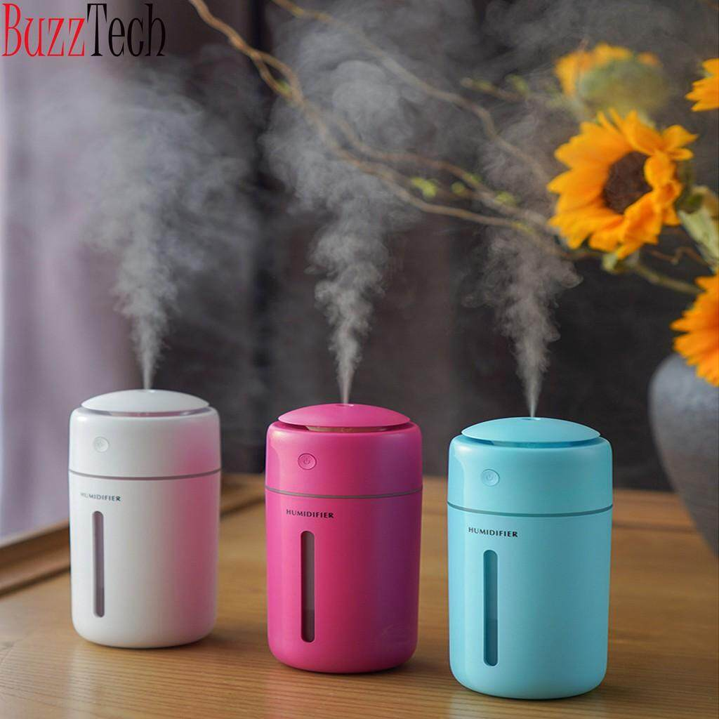 BuzzTech 350ML Color Cup Ultrasonic Home Air Humidifier Diffuser Purifier Atomizer Aromatherapy Car Humidifier