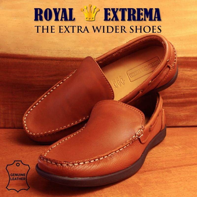 ROYAL EXTREMA EXTRA WIDE Mocassins Slip On RESH0009 (Brown)