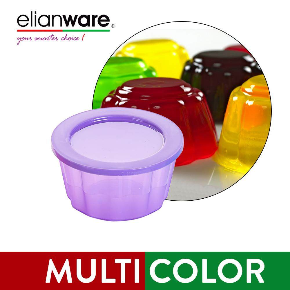 Elianware (150ml) Random Colour [BPA FREE] Round Jelly Cup Jelly Acuan Mould