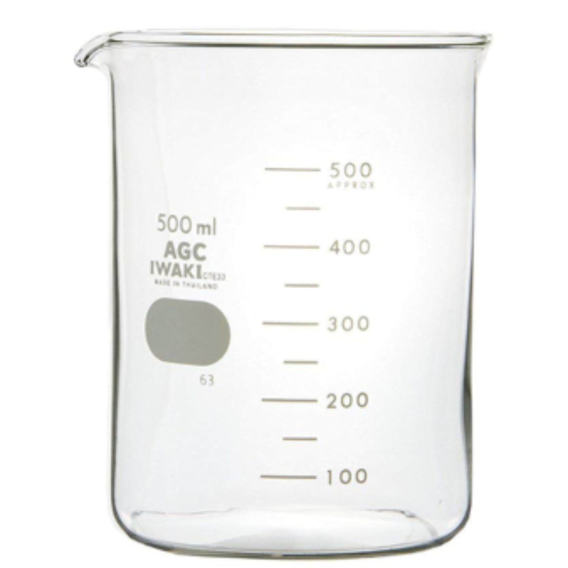 IWAKI 500ml Glass Beaker Low Form Laboratory use